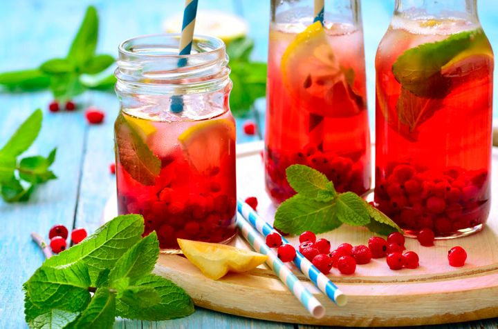 Infuse water using herbs, citrus and fresh or frozen berries.