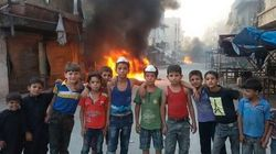 Bands Of Children Are Setting Fire To Tyres To Stop Their City Being