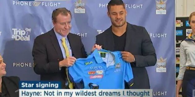 Hayne officially announces his signing with the Gold Coast