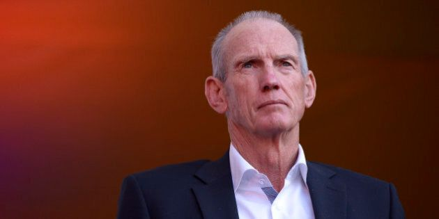 SYDNEY, AUSTRALIA - OCTOBER 01: Wayne Bennett, coach of the Broncos looks on during the launch of NRL...