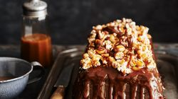 This Caramel Peanut Popcorn Chocolate Cake Is All Kinds Of