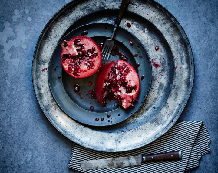 Natural food colouring is derived from intensely colourful fruits like pomegranate.