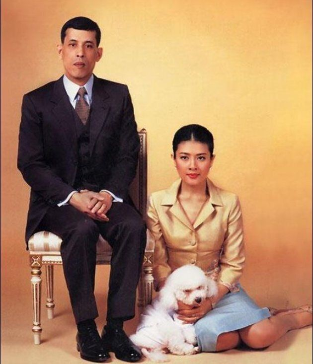 The Thai King with his third wife and Air Chief Marshall Foo