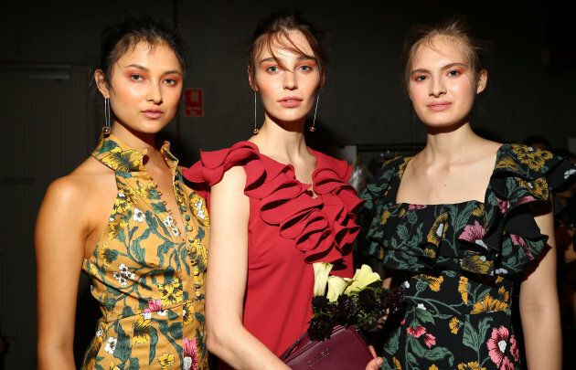 Models backstage ahead of the C/MEO Collective