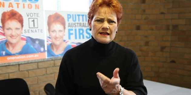 Pauline Hanson's One Nation has won four Senate