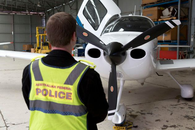 A light plane was among the goods seized during AFP raids on