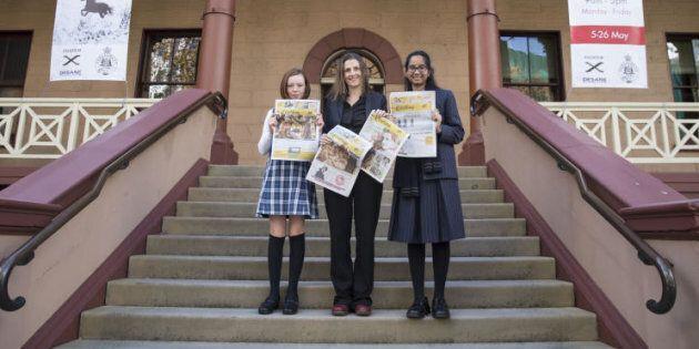 Crinkling reporter Dita Mehta, Saffron Howden Founder and Editor of Crinkling and Crinkling reporter...