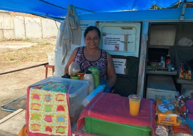 My days start with a visit to the mango juice lady. She's one Carioca earning a few extra Reais from...