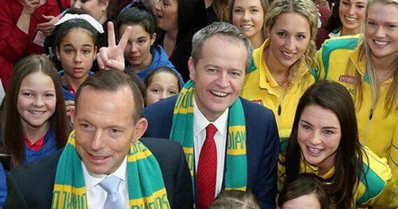 Bill Shorten Denies Giving Tony Abbott Bunny Ears In Hilarious Netball