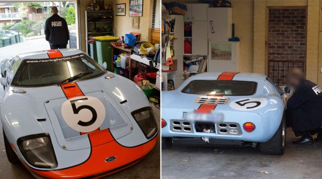 Adam Cranston's extremely rare Ford GT40 being inspected by the Australian Federal Police. There are...