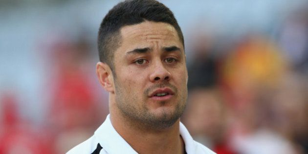 SYDNEY, AUSTRALIA - JANUARY 07: Former rugby league player and current NFL player Jarryd Hayne watches...