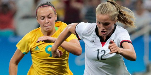 The Matildas have failed to upset Germany at the Rio