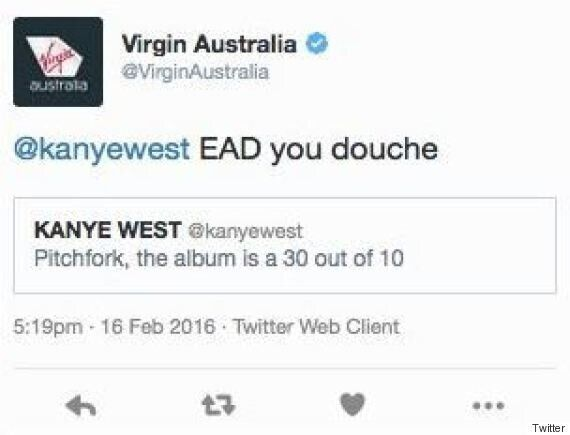 Carat Media Apologise For That Virgin Australia Tweet Calling Yeezy A