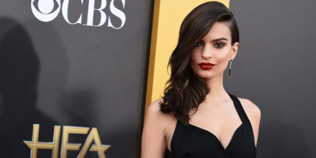 Emily Ratajkowski arrives at the Hollywood Film Awards at the Palladium on Friday, Nov. 14, 2014, in Los Angeles. (Photo by Jordan Strauss/Invision/AP)