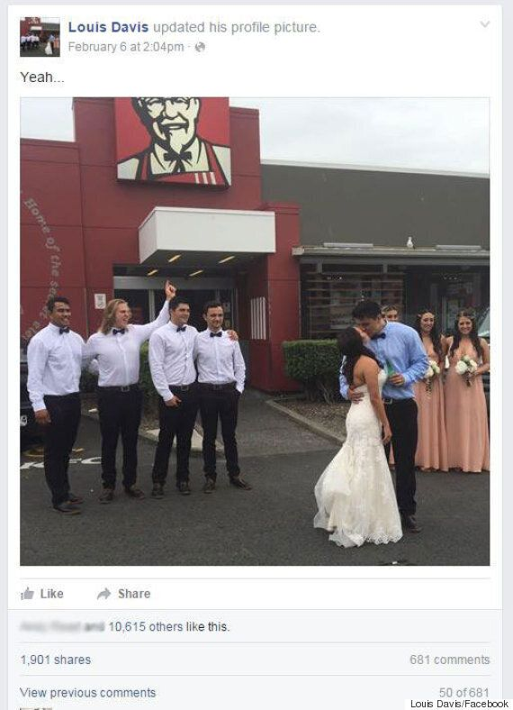 Kiwi Groom Makes New Wife Stop At KFC For