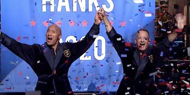 The Rock Announced His 2020 Presidential Bid On 'SNL' (Kind