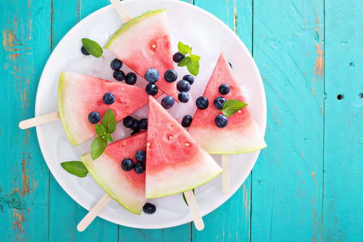 Keep the fridge and fruit bowl full of fresh fruit for healthy snacks.