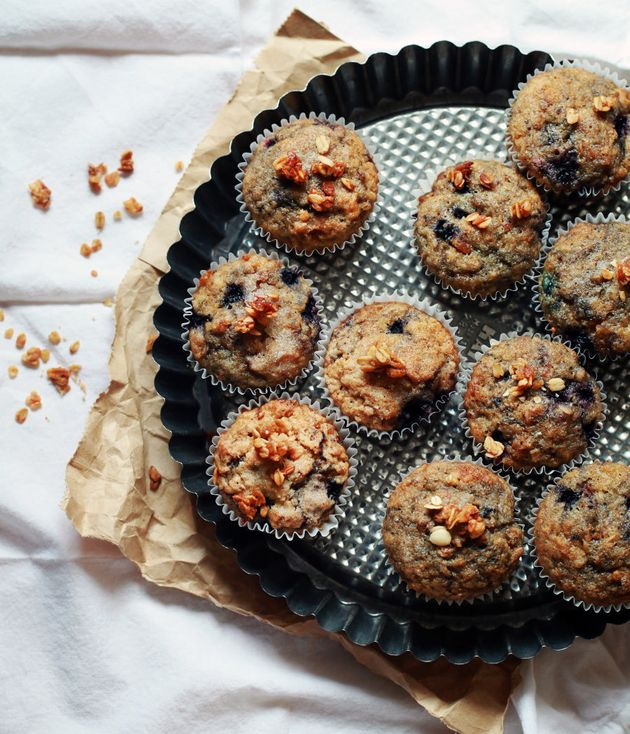Fluffy yet moist, these delicious muffins are studded with plump blueberries and crunchy
