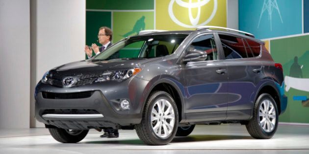 The new Toyota RAV4 is unveiled at the LA Auto Show in Los Angeles, Wednesday, Nov. 28, 2012. The annual...