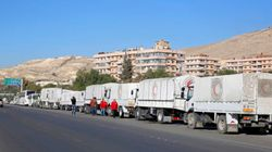 Humanitarian Aid Arrives In Besieged Damascus