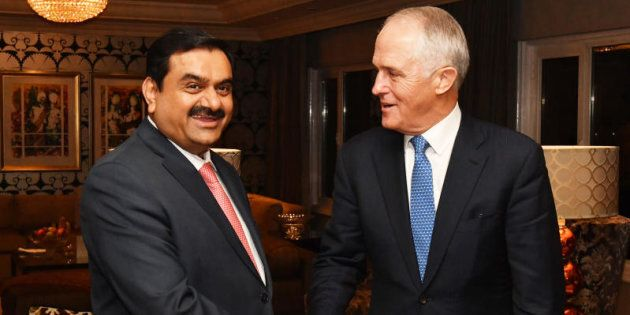 Prime Minister Malcolm Turnbull met India's Adani Group founder and chairman Gautam Adani in New