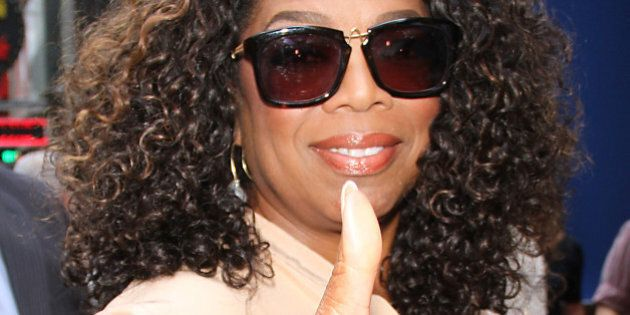 NEW YORK, NY - AUGUST 4: Oprah Winfrey at Good Morning America to talk about her new movie the Hundred-Foot...