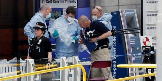 Forensic specialists investigate the area near Manchester