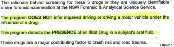 Hazy Drug Driving Advice On Australian
