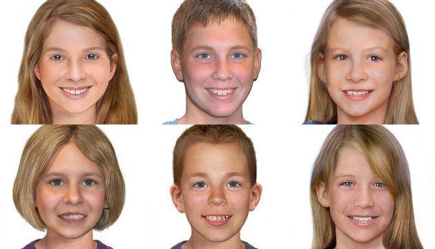 The six missing children left to right: [Top] Leela McDougall, Mathieu Macintosh, Bronte Watter. [Bottom]...