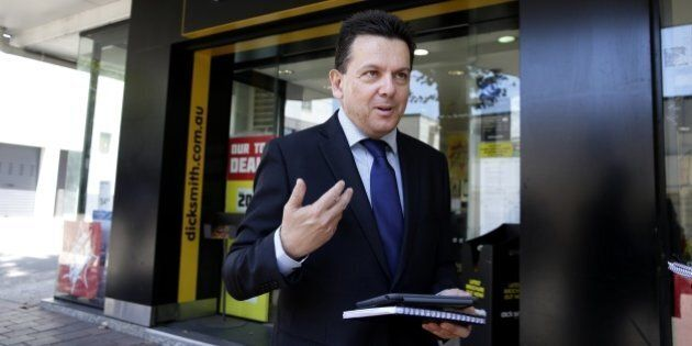 Senator Nick Xenophon's iPad Tried To Answer A Question During