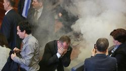 Tear Gas Released In Parliament By Kosovo Opposition