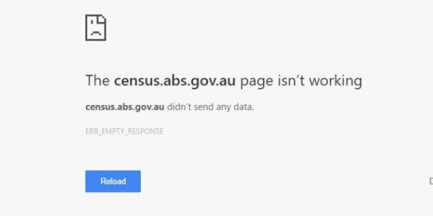 Australians trying to complete the Census on Tuesday night were presented with an error
