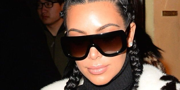 NEW YORK, NY - FEBRUARY 10: Kim Kardashian is coming out of cipriani restaurant in Soho on February 10, 2016 in New York City. (Photo by Raymond Hall/GC Images)