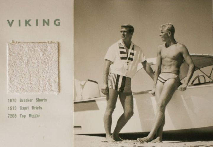 The Speedo Golden Sands Series catalog for the summer of 1960-61, described as 'dramatic'.