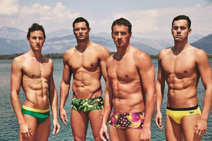 Speedos International's latest launch of men's swimwear is bright.