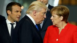 Emmanuel Macron Swerves Donald Trump To Greet Angela Merkel