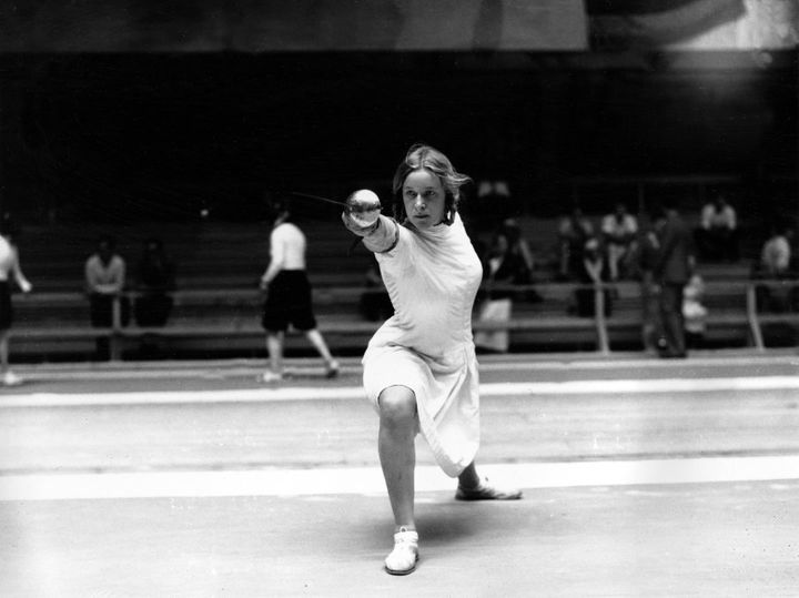 Helene Mayer was seen as a 'token Jew' allowed to compete for Germany in the 1936 Olympics as a political tactic. However her talent meant that she had every right to be there.