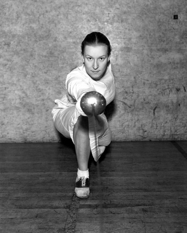 Helene Mayer in 1935 as the world champion in women's fencing.