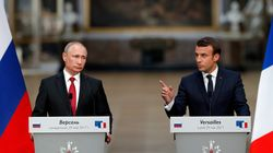 Standing Right Next To Putin, Macron Denounces Russian Election