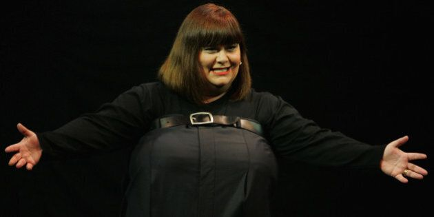 SYDNEY, AUSTRALIA - JUNE 29:  British comedian Dawn French performs on stage with Jennifer Saunders in there sold out show at the Capitol Theatre on June 29, 2009 in Sydney, Australia.  (Photo by Lisa Maree Williams/Getty Images)