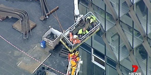 Crane Crashes Into Geelong Building, Trapping Construction