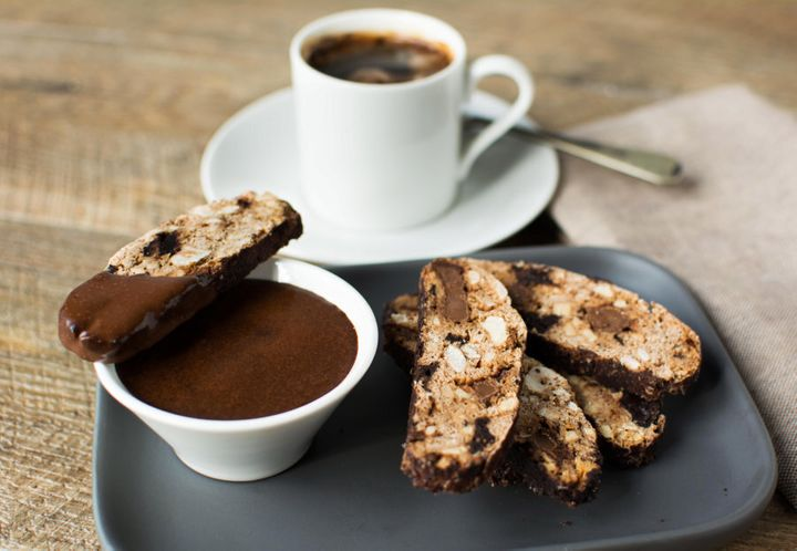 This double chocolate biscotti has it all: chocolate flavour, crunch and a decadent dip. Enjoy with a strong coffee or tea.