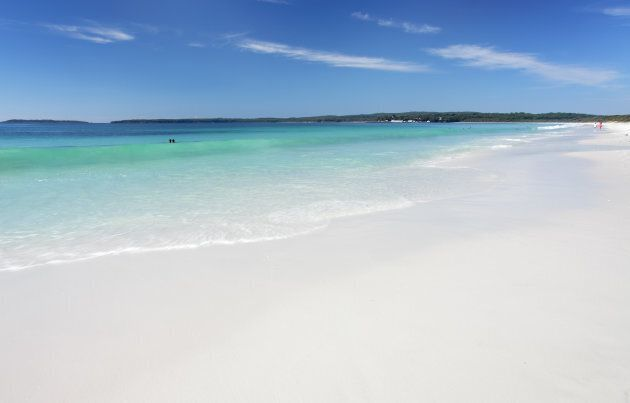Just another really awful day at Hyams Beach in Jervis Bay, two hours south of Sydney.