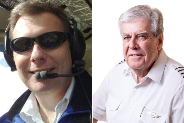 Experienced chief pilots Martin Scott (left) and Paul Daw (right) have been named as two of the victims of Tuesday night's light plane crash in the Riverlands in South Australia.