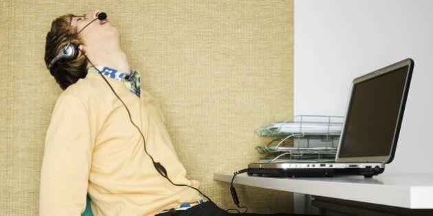 Man Sleeping at His