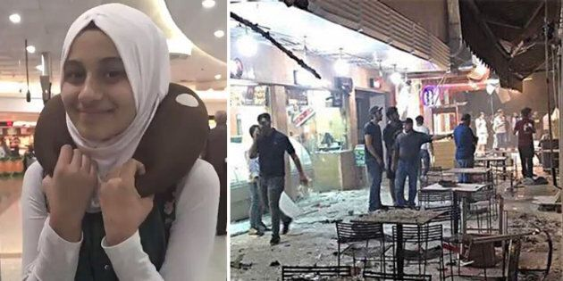 Zaynb Al Harbeya, 12 (left), was celebrating the end of her fast for Ramadan with an ice-cream when she was killed by a car bomb at the Al-Faqm ice-cream parlour (right).