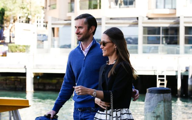 Trading the stunning tropical weather for the cooler Sydney mornings, Pippa and James rugged up before...