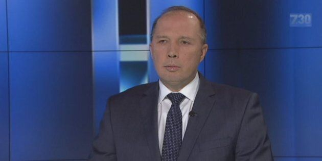 Peter Dutton said some asylum seekers were self-harming to try to get to