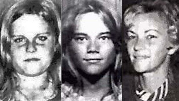 Barbara McCulkin (right) and her daughters Vicky, 13 (left) and Leanne, 11