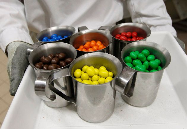 Mass produced colouring is easier and cheaper for the food industry.